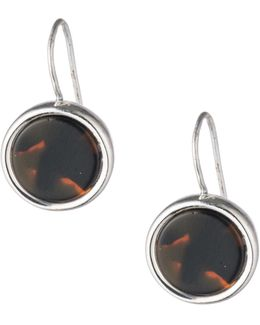 Tortoiseshell Round Drop Earrings