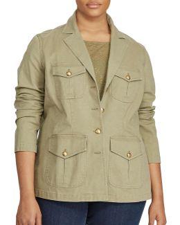 Plus Notch Lapel Military Jacket