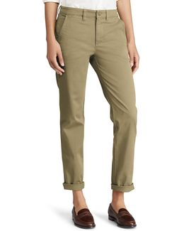 Plus Stretch Mid-rise Straight Chino Pants