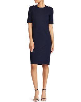 Button-shoulder Sheath Dress