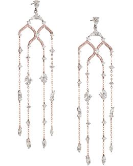 Drop Chain Chandelier Earrings