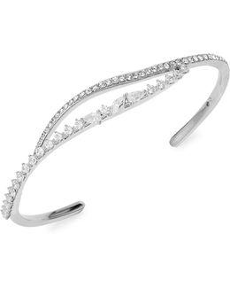 Silvertone Open Cuff Bracelet