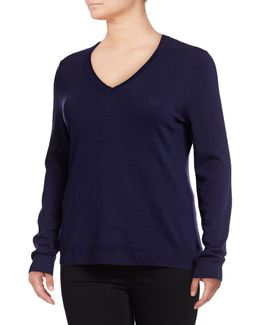 Plus Basic V-neck Sweater