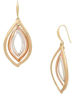 Tri-tonal Orbital Drop Earrings