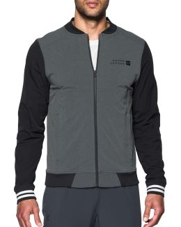 Fitted Sportstyle Woven Bomber Jacket