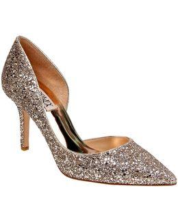 Daisy Glitter Pointed Toe Heels