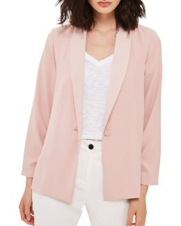 Ruched-sleeved Blazer