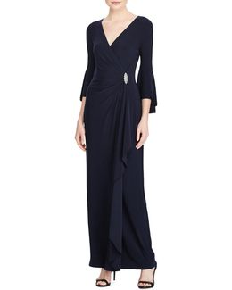 Jersey Bell Sleeve Gown