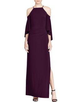 Cutout-shoulder Jersey Cold Shoulder Gown
