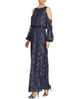 Burnout Cold Shoulder Gown