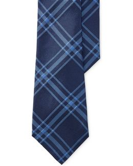 Two-colour Plaid Silk Tie