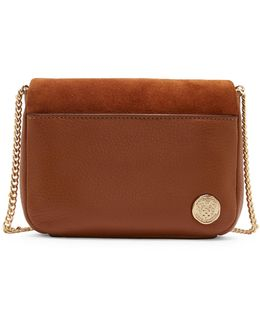 Adina Leather And Suede Crossbody Bag