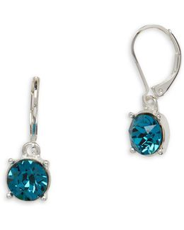 Swarovski Crystal Leverback Earrings