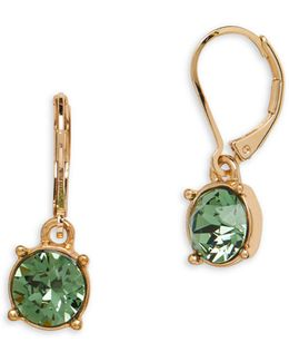 Swarovski Crystal Goldtone Leverback Earrings