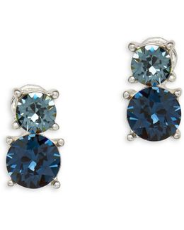 Swarovski Crystal Silvertone Earrings