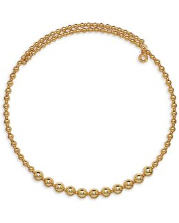 Goldtone Beaded Choker Necklace