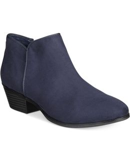 Wileyy Stacked Heel Ankle Boots