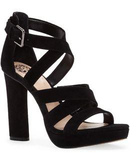 Catyna Suede Platform Sandals