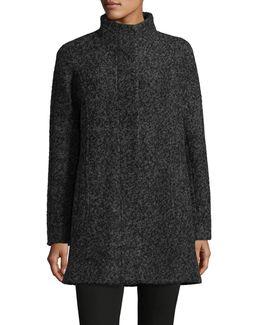 Mock Neck Boucle Jacket