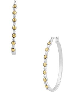 New West Two-tone Hoop Earrings