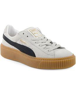 Basket Platform Suede Low Top Sneakers