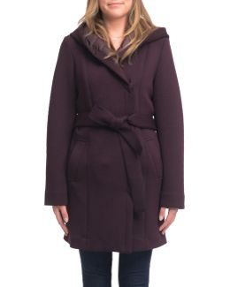 Essential Neoprene Wrap Coat