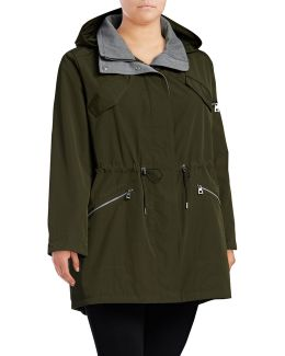 Plus Hooded Poly-fill Anorak