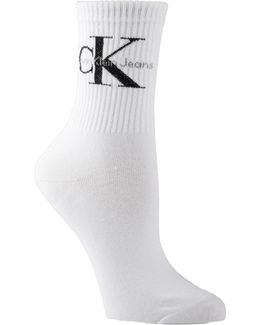 Jeans Logo Short Crew Socks