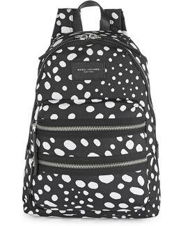 Wavy Spot Biker Backpack