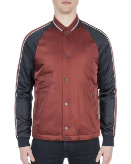 Snap Front Luxe Bomber Jacket