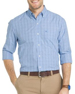 Essential Windowpane Check Woven Poplin Shirt