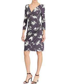Floral-print Jersey Sheath Dress
