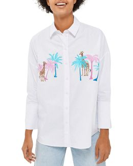 Palm Giraffe Button-up Shirt