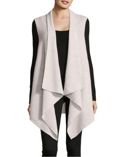Cashmere Waterfall Vest