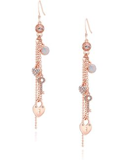 Charm Linear Chain Drop Earrings