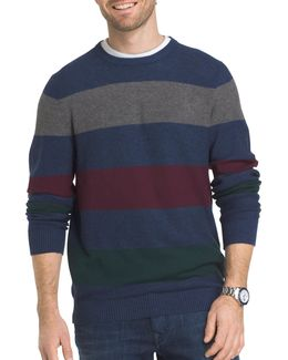 Multi-striped Textured Sweater