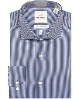 Dobby Stripe Cotton Dress Shirt