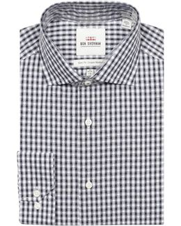 Dobby Check Cotton Dress Shirt
