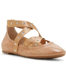 Nariah Leather Ballet Flats