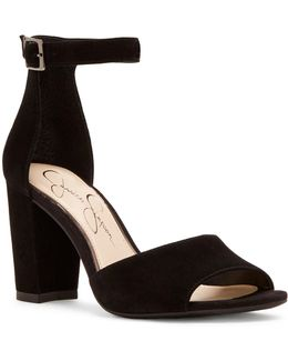 Sherron Suede Ankle-strap Sandals