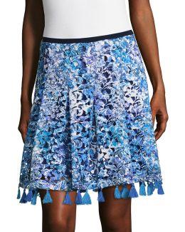 Garden Lace Flared Skirt