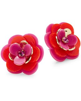 Rosy Posies Stud Earrings