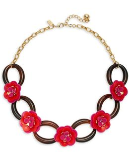 Rosy Posies Link Necklace