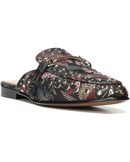 Marilyn Studded Leather Slides