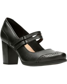 Cleason Tily Leather Mary Jane Pumps