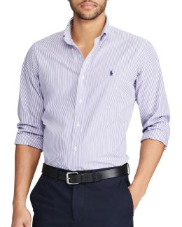 Classic Fit Striped Cotton Casual Button-down Shirt
