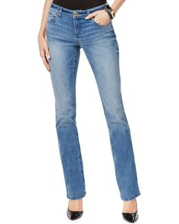 Bootcut Faded Mid-rise Jeans