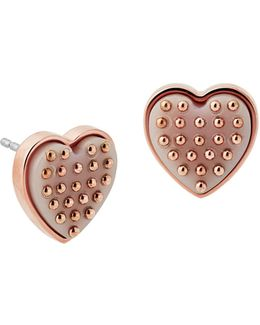 Micro Muse Heart Stud Earrings