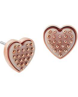 Micro Muse Heart Stud Earrings