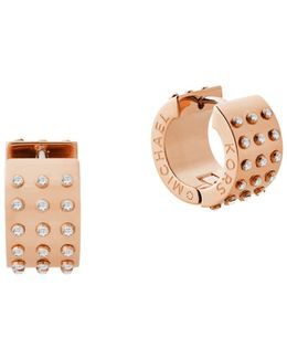 Micro Muse Studded Huggie Hoop Earrings